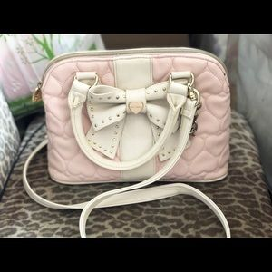 Light Pink Betsey Johnson purse with bow
